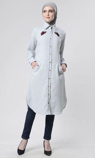 Front Embroidered Exclusive Tunic - EastEssence.com