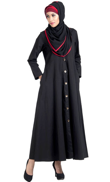 Front open basic Jilbab dress with hijab set - EastEssence.com