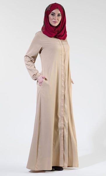 Front Open Crepe Prayer Abaya/ Jilbab - EastEssence.com
