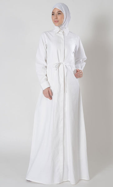 Front Open Umrah Hajj Abaya dress - EastEssence.com