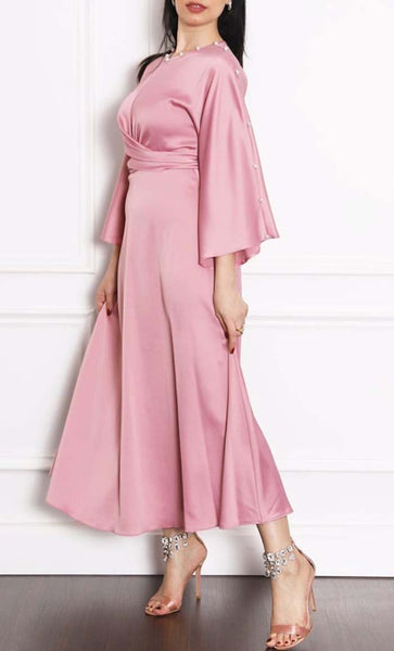 Front Overlap Tie Up Work Wear Abaya - *Size Up* - EastEssence.com