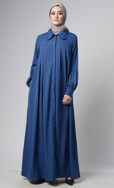 Front Pleated Everyday Stylish Abaya - EastEssence.com