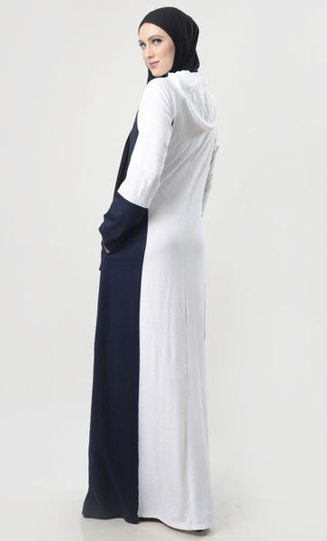 Front With Zipper Jersey Comfort Abaya - EastEssence.com