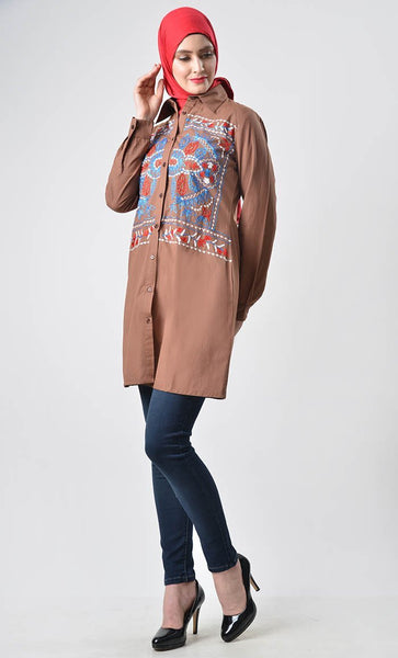 Full Detail Embroidered tunic - EastEssence.com