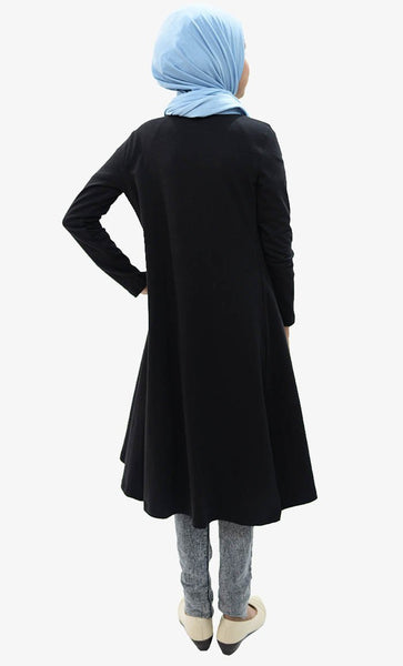 Girl Long Shrug-Black - EastEssence.com