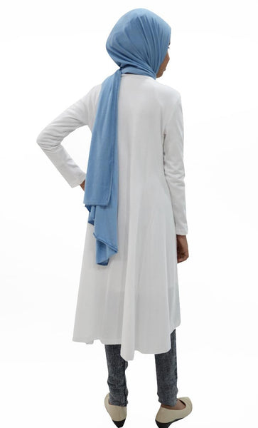 Girl Long Shrug-White - EastEssence.com