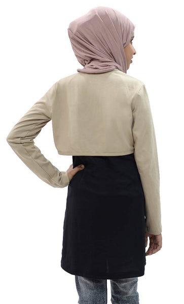 Girl Short Shrug-Camel - EastEssence.com