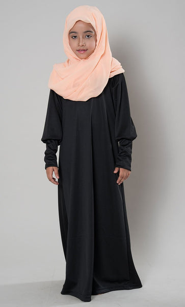 Girls Batwing Abaya Dress - EastEssence.com