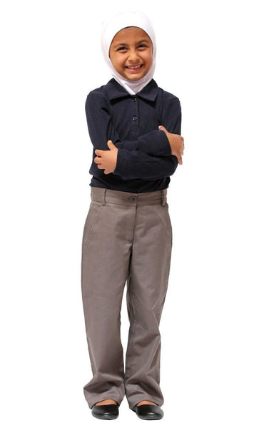 Girls Cotton Uniform Adjustable Pants - EastEssence.com
