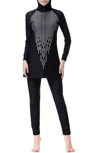 Glam Up Swimwear Burkini (Black) - EastEssence.com