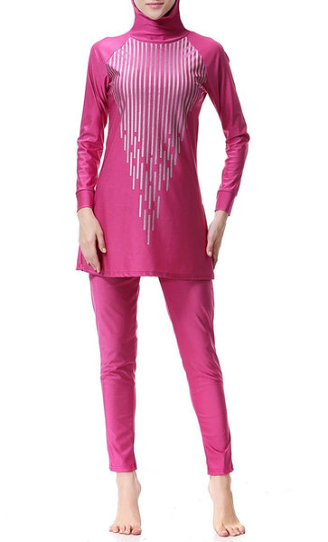 Glam Up Swimwear Burkini (Rose Red)- *Size Up* - EastEssence.com