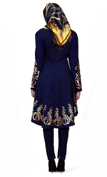 Gold Moroccan high low tunic - *Size Up* - EastEssence.com