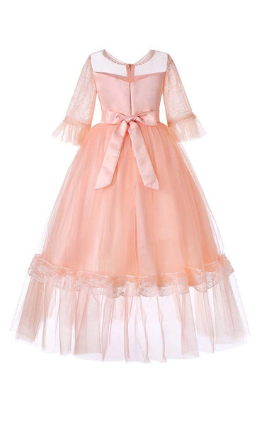 Gorgeous Princess Girl's Dress (Pink)-*Size Up* - EastEssence.com