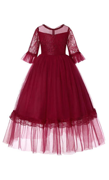 Gorgeous Princess Girl's Dress (Red)-*Size Up* - EastEssence.com