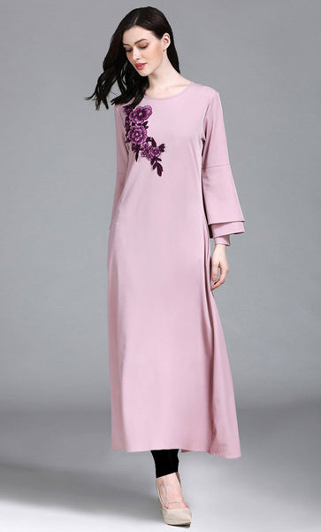 Hemp Baby Pink Long Tunic Dress - *Size Up* - EastEssence.com