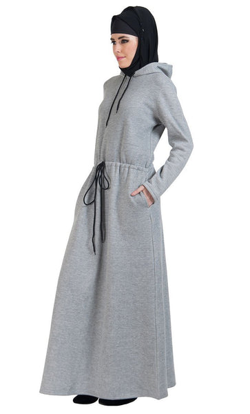 Hoodie style activewear casual abaya dress - EastEssence.com