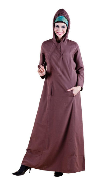 Hoodie Style Casual Wear Muslimah Abaya Dress - EastEssence.com