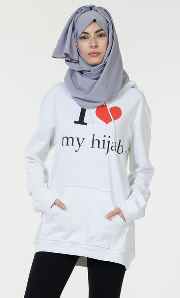 I Love My Hijab Hoodie Sweatshirt - EastEssence.com