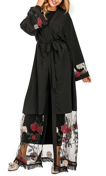 Is it Spring Rose Shrug - *Size Up* (Black) - EastEssence.com