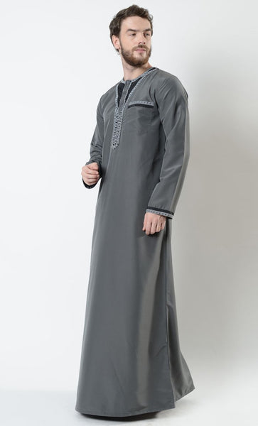 Joseph Men's Moroccan Embroidered Thobe - EastEssence.com