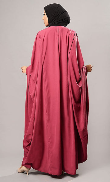 Kaftan Style Flowy Abaya Dress - EastEssence.com