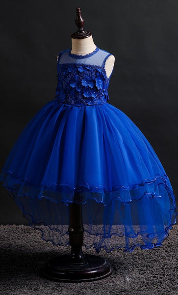 Laced Girl's Dress (Blue)-*Size Up* - EastEssence.com