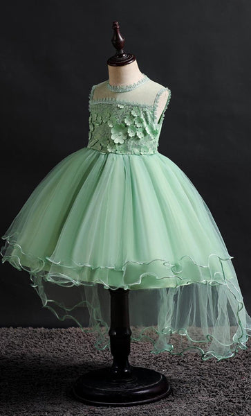 Laced Girl's Dress (Green)-*Size Up* - EastEssence.com