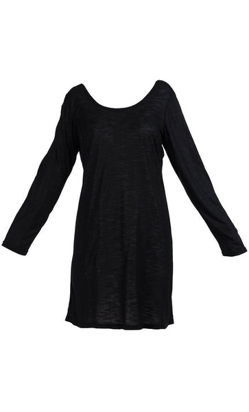 Long Sleeve And Shirt Length Under Dress Slip On Top - EastEssence.com