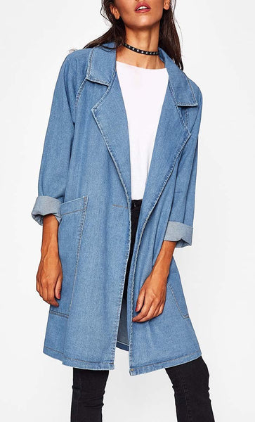 Loose Fit Denim Jacket - EastEssence.com