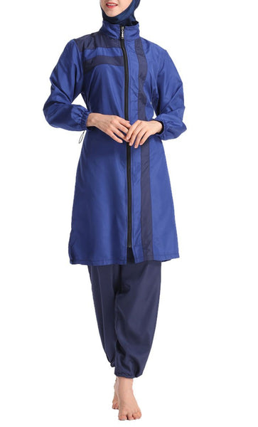 Loose Sports Beachwear Burkini (Blue)-*Size Up* - EastEssence.com