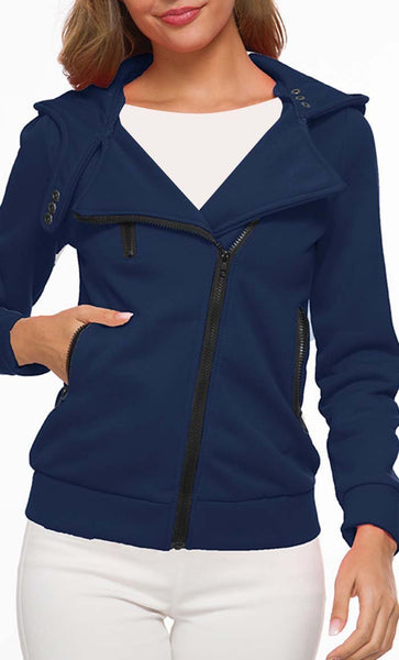 Love For Feelce Jacket - Navy - *Size Up* - EastEssence.com