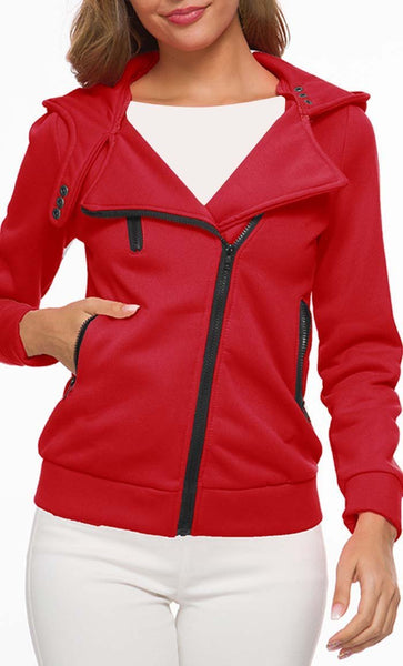 Love For Feelce Jacket - Red - *Size Up* - EastEssence.com