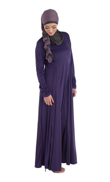 Pleated Knit Abaya