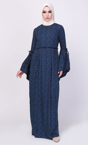 The Blue Fall Pleated Abaya