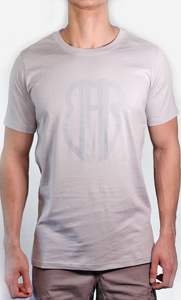 Men's Grey Tee - Large Logo - Final Sale Item_As Pictured_Front_View