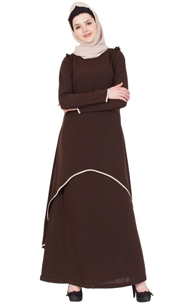Double layered comfortable abaya-Final sale