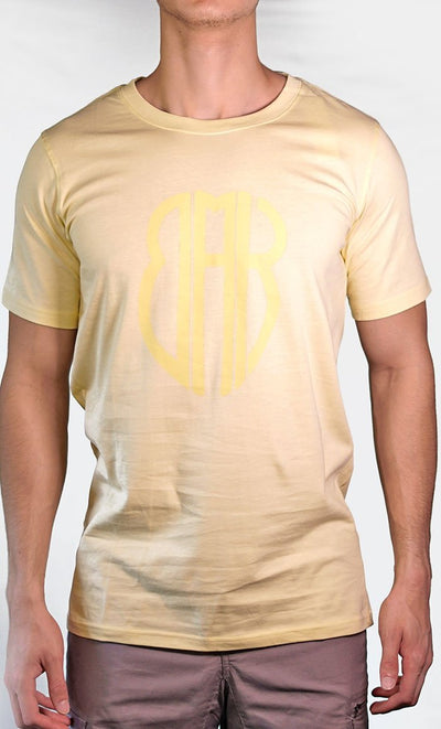 Men's Yellow Tee - Large Logo - Final Sale Item_As Pictured_Front_View