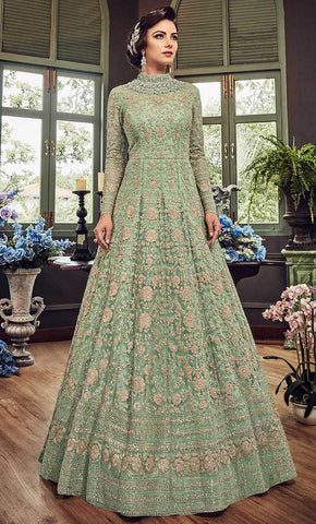 Embellished Floral Cording Work salwar kameez-Final sale