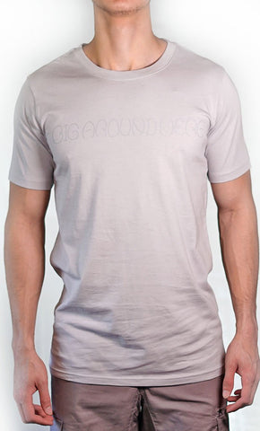 Men's Grey Tee - Name Logo - Final Sale Item_As Pictured_Front_View