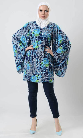 Vintage Broque Print Marie Sleeve Tunic