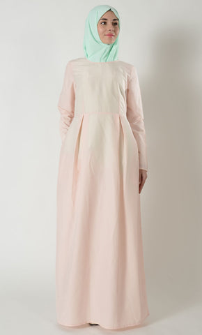 Plain Kashibo Everyday Abaya - Light Pink_Light Pink_Front_View