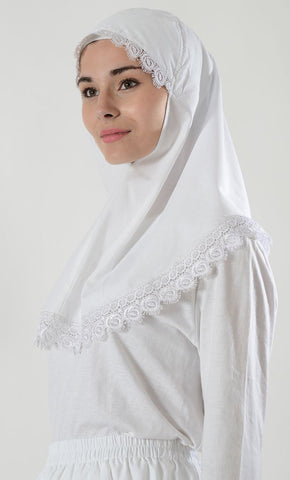 Short Lace Al-Amira_White_Front_View