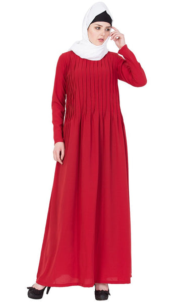 Comfortable loose fitting Pintuck abaya-Final sale