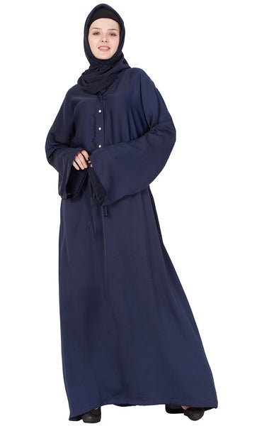 Button down collar drawstring abaya-Final sale
