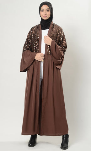 Dazzle up Shrug- Brown