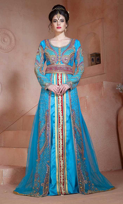 Moroccan Style Arabic Long Sleeve Wedding Kaftan-Final sale