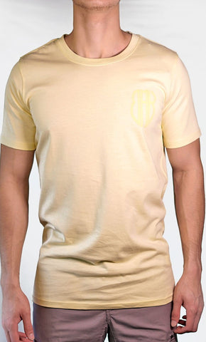 Men's Yellow Tee - Small Logo - Final Sale Item_As Pictured_Front_View