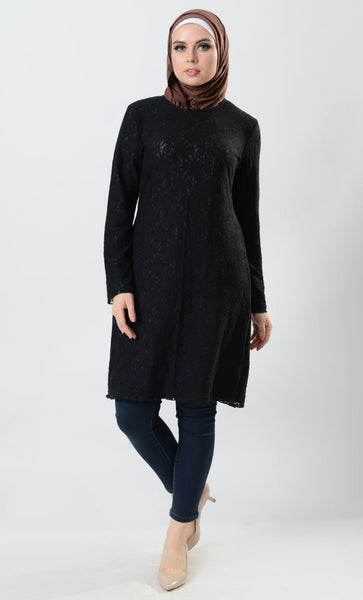 Nylon Lace With Lining Tunic