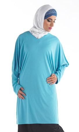 Abla Kurti_Turquoise_Front_View