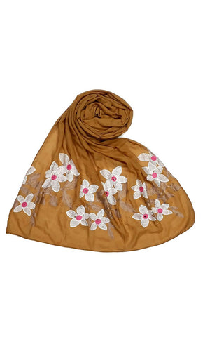 Copper floral Ari work hijab-final sale